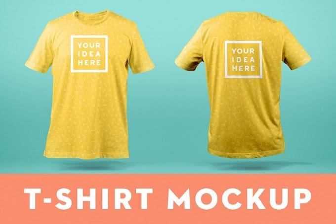 T-Shirt Mockup Template Front & Back