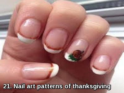 Nail art patterns of thanksgiving