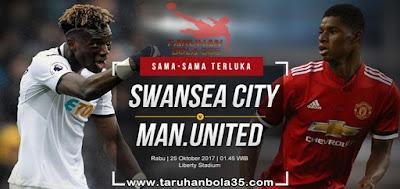 Prediksi Taruhan Bola 365 - Swansea City vs Manchester United 25 Oktober 2017