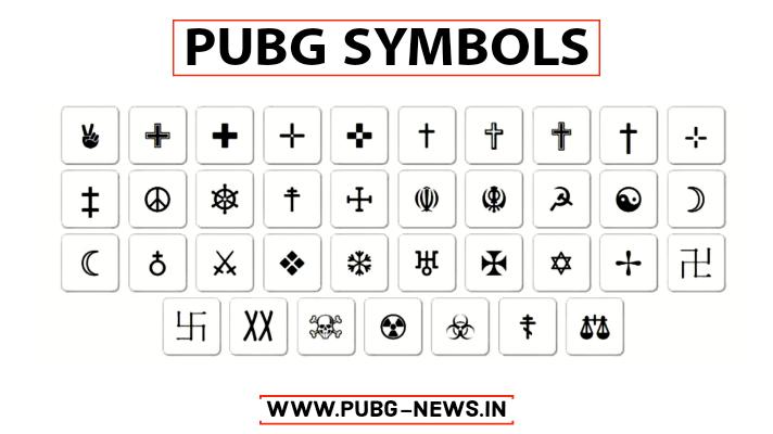 PUBG Symbols
