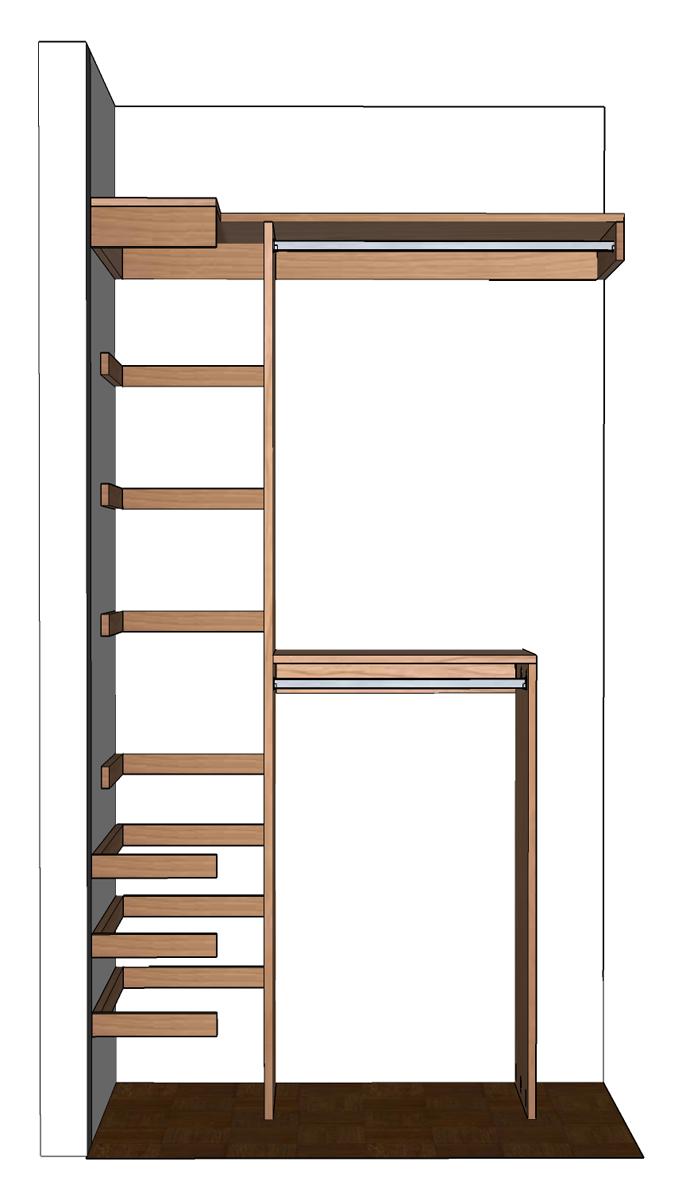 diy small closet organizer ideas - DIY Small Closet Organizer Plans