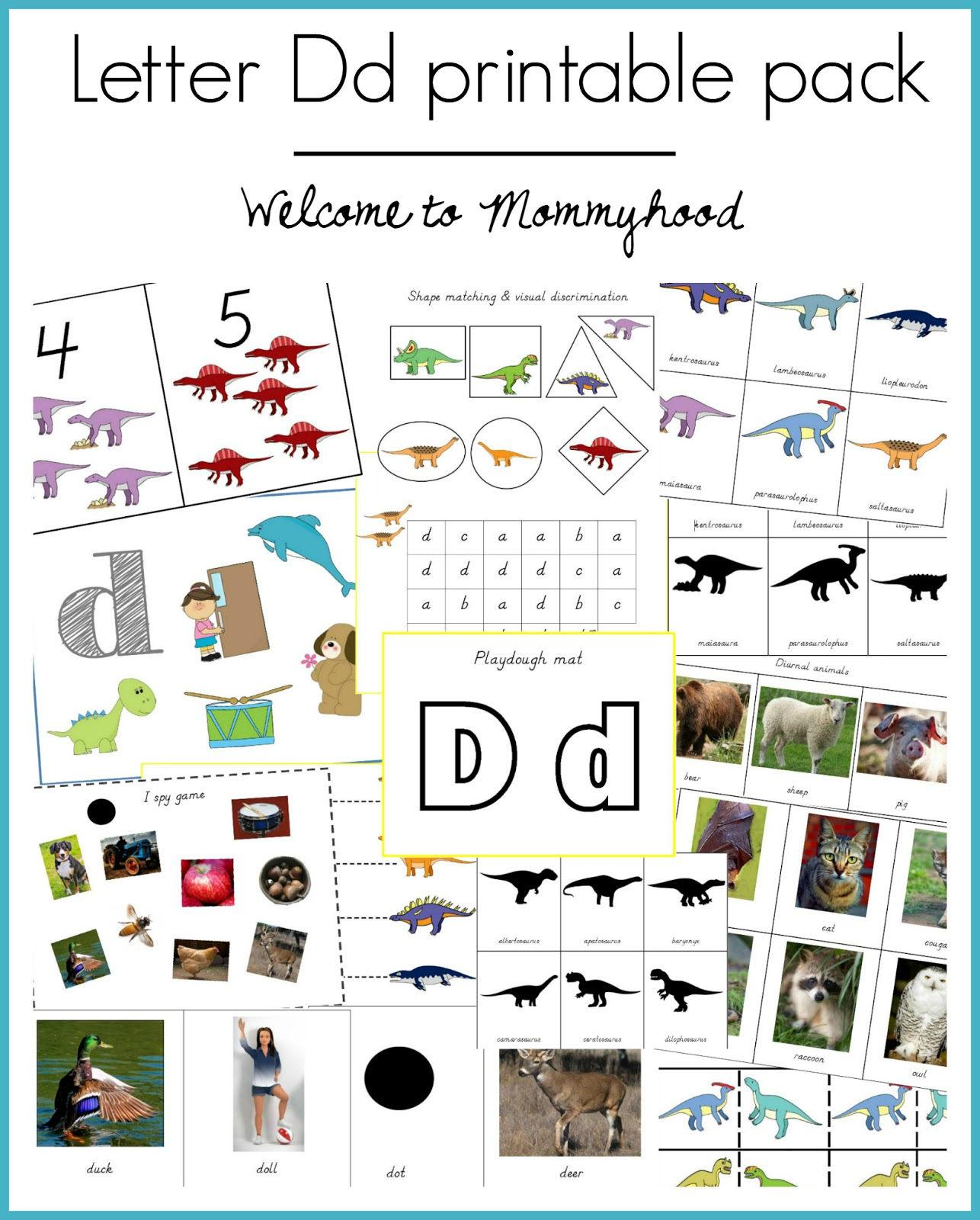 Welcome To Mommyhood Letter Of The Week Letter D Printable Pack