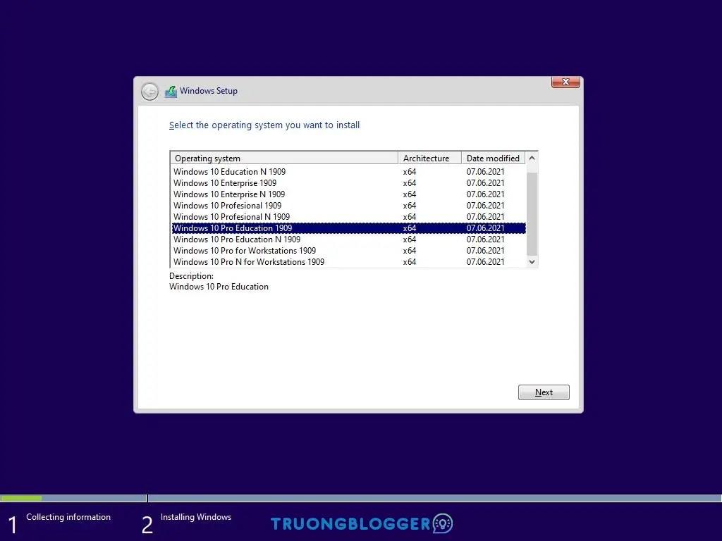 Windows 10x64 10in1 19H1 ESD en-US Jun 2021 tự động 1 Click