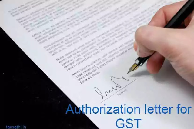 Authorization letter for GST In word format