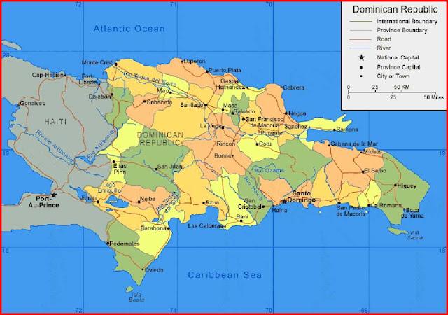 Gambar Peta Republik Dominika