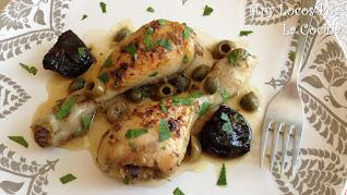 Pollo Al Horno con Salsa de Ciruelas Pasas, Aceitunas y Alcaparras