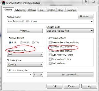 Cara membuat file installer menggunakan winrar