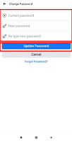 how do you change your password on facebook on android