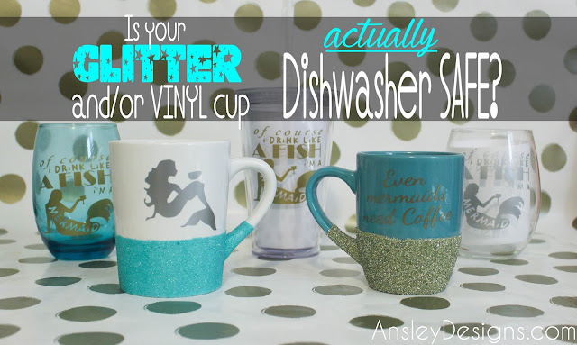 Can you put a vinyl glitter mug in the dishwasher?