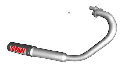 Download peça Escapamento Torbal para CG , Zmodeler 3D