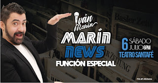 MARÍN NEWS un divertido Stand UP Comedy en Teatro Santa Fe