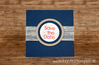 stampin Up Save the date nautic maritim the open sea