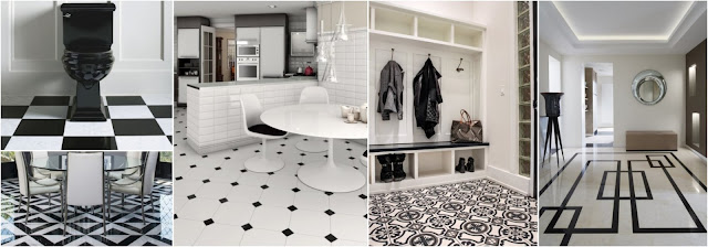 Floor Tiles In Black And White | Most Beautiful Designs
