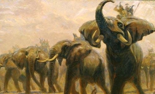 Image result for elephant vs cavalry