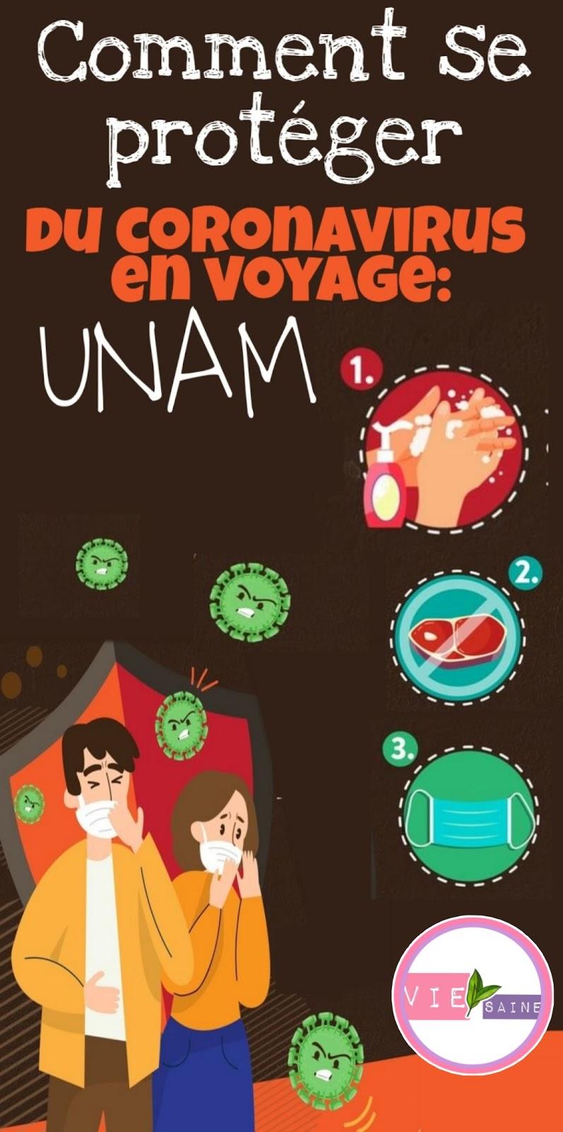 Comment se protéger du coronavirus en voyage: UNAM