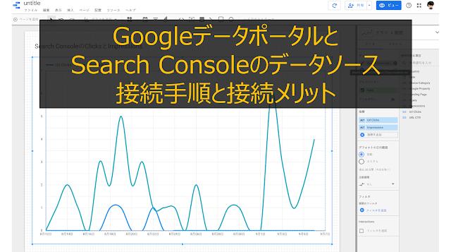 GoogleデータポータルとSearch Consoleのデータソース接続手順と接続メリット