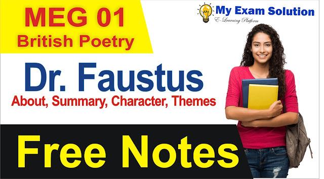 dr. faustus summary in hindi, dr. faustus notes, british drama free notes