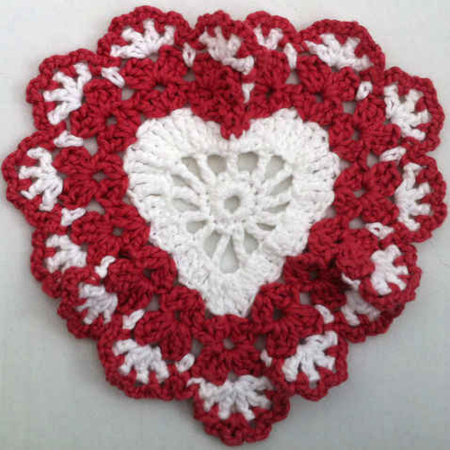 Sweetheart Crochet Dishcloth - Free Pattern