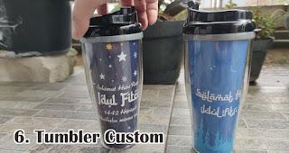 Tumbler Custom merupakan salah satu rekomendasi souvenir spesial idul fitri yang unik dan menarik