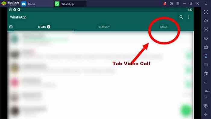 menu video call WhatsApp desktop laptop