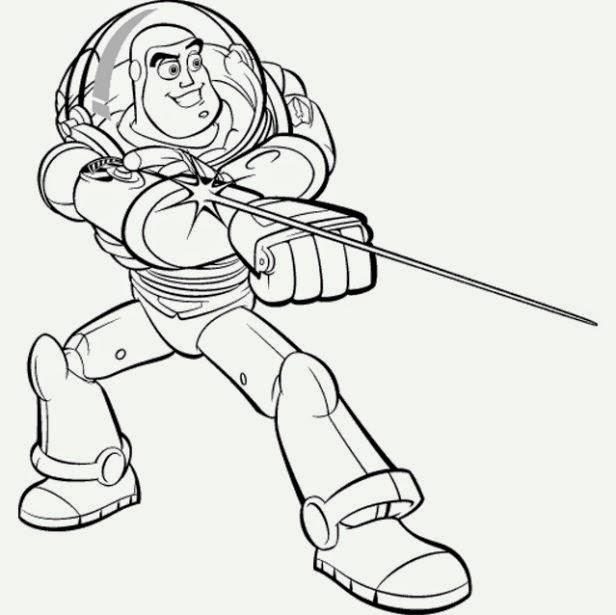 Maestra De Infantil Toy Story Y Buzz Lightyear Dibujos Para Colorear