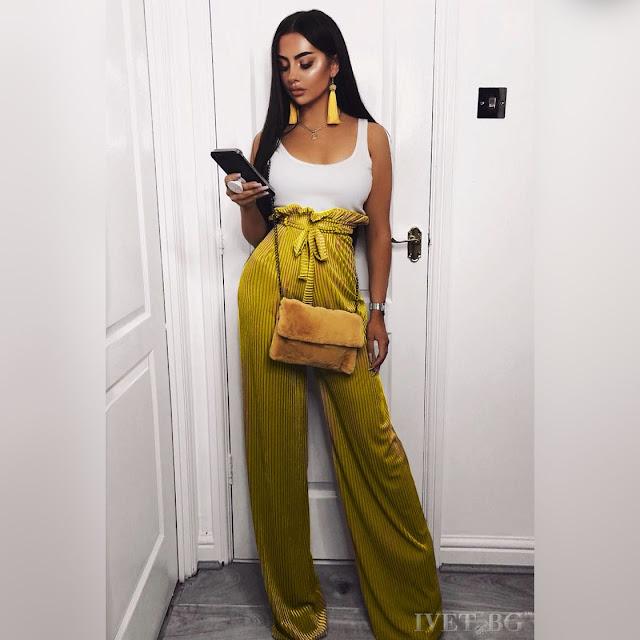 Ψηλόμεση  κίτρινη παντελόνα TORY YELLOW