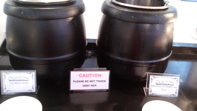 Kalabasa soup and sinigang na Baboy sa Pula.
