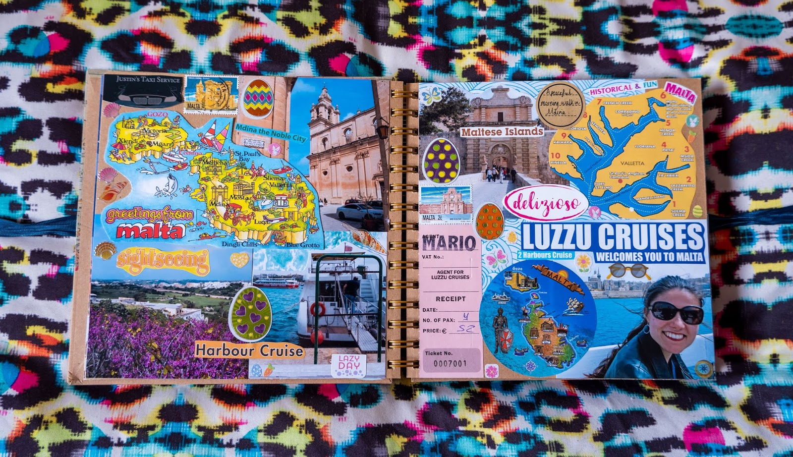 Malta pages in my 2019 travel scrapbooks