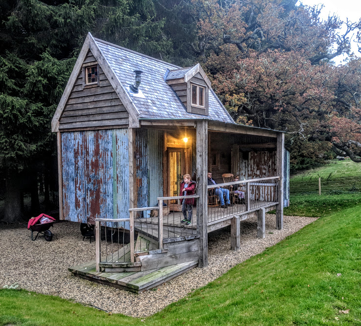 Experience Northumberland's Dark Skies with a Stay at Hesleyside Huts  | Rowan Hut Exterior