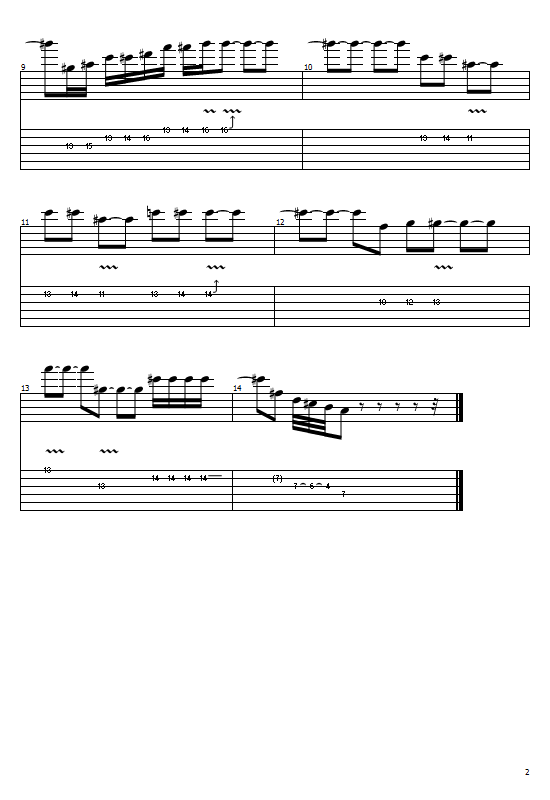 Bohemian Rhapsody Tabs (Guitar Solo) - Queen Tabs And Sheet