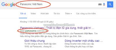 Cách tìm Đại lý độc quyền điện Panasonic trên Google