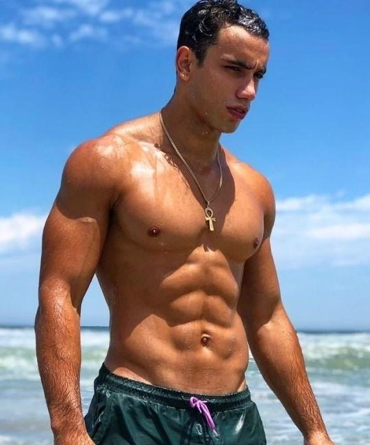 young-shirtless-sexy-wet-fit-black-guy-sea