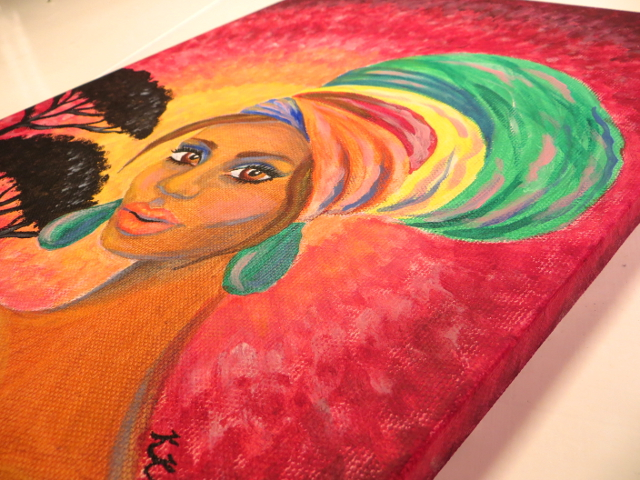 Turban Girl Africa Painting