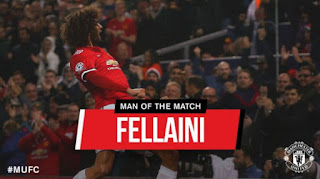 Fellaini Man of the Match Manchester United vs FC Basel 3-0 Liga Champions