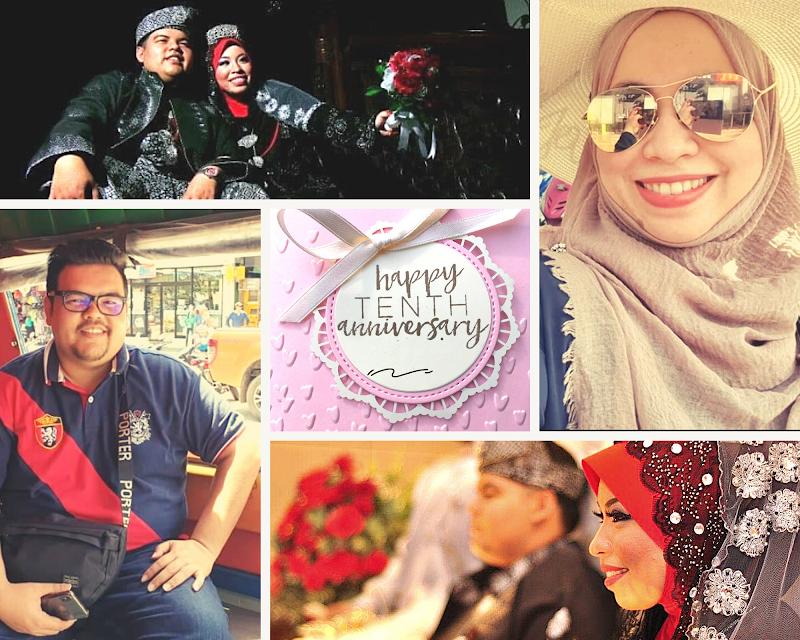 SEDEKAD cinta kami   Happy 10th wedding anniversary Julia Johari & Husband !