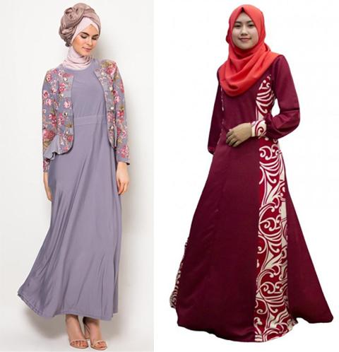 model baju jubah batik