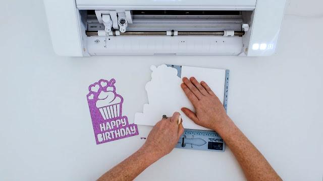 paper crafts, silhouette CAMEO beginners, paper card, beginner tutorials, score line