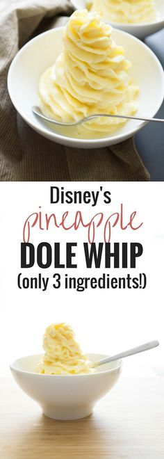 This Dole Whip is a creamy smooth pineapple frozen treat… just like at Disney! Made with only 3 ingredients and a blender!