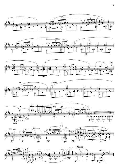 Partitura Guitarra Frederic Chopin
