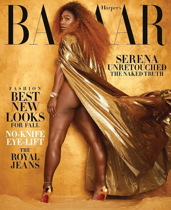 Serena Williams Goes Unretouched For The August 2019 Issue Of @harpersbazaarus