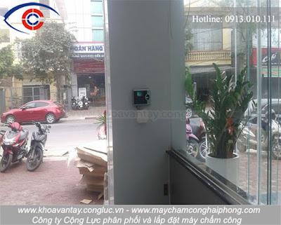 Hoàn thành lắp đặt máy chấm công Ronald Jack 4000 TID-C tại Yamaha Town Phương Đông, Trần Nhân Tông, Kiến An, Hải Phòng.