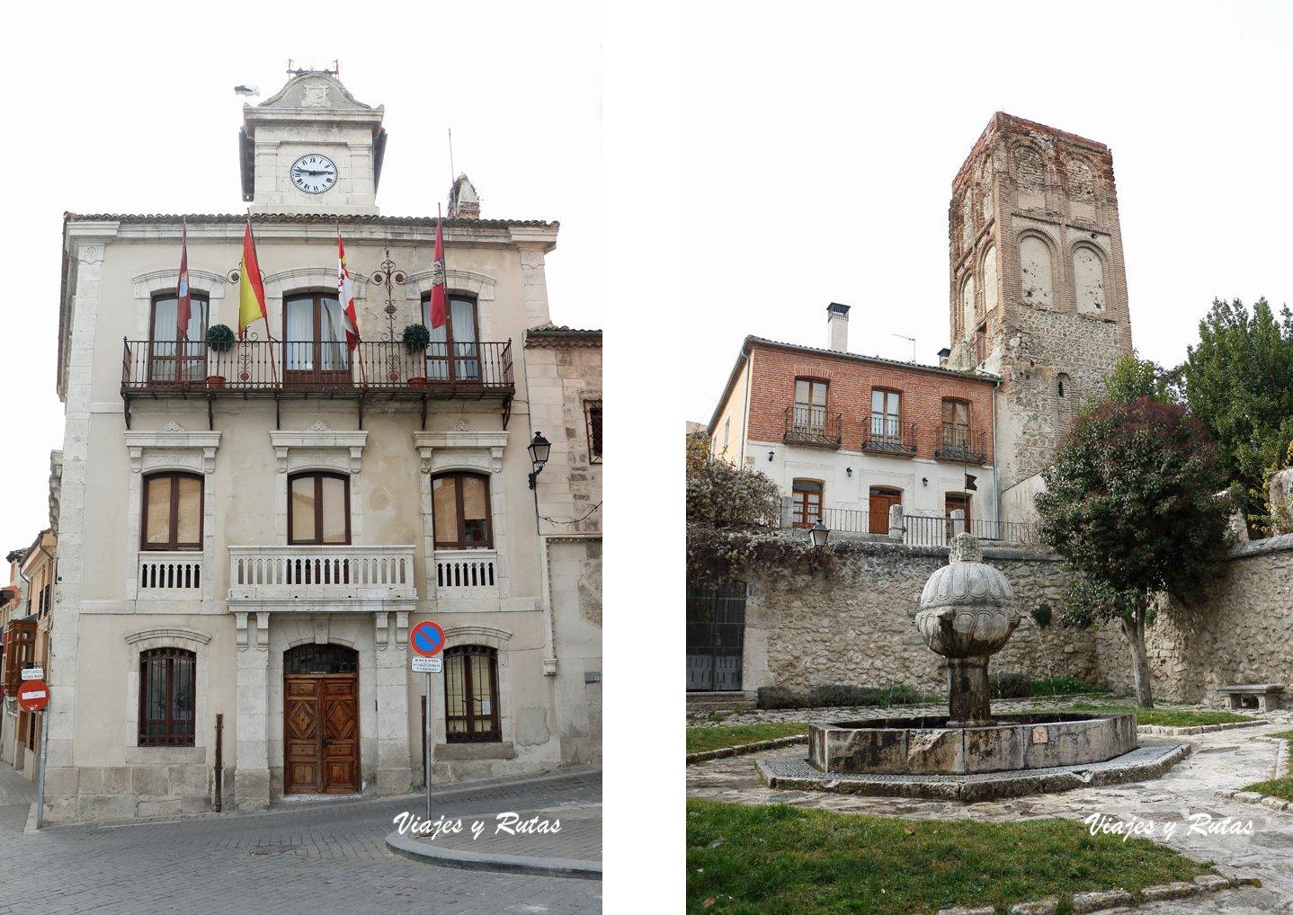 Ayuntamiento y Torre de Santa Marina de Cuéllar