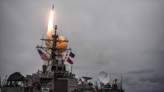 Dos cazas y un buque de EEUU atacaron Siria desde bases en España
