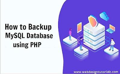 How to Backup MySQL Database using PHP