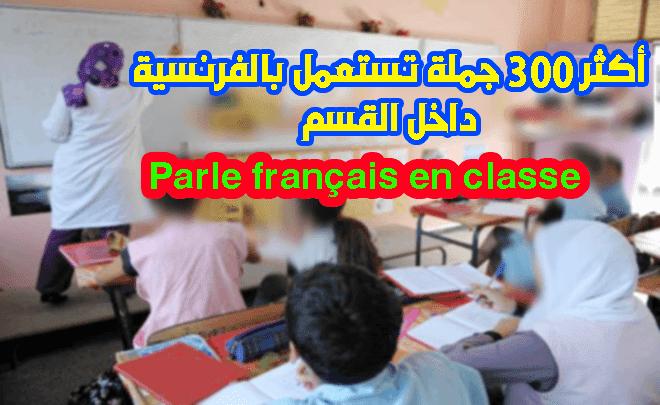 أزيد من 300 جملة يجب معرفتها من طرف أستاذ اللغة الفرنسية