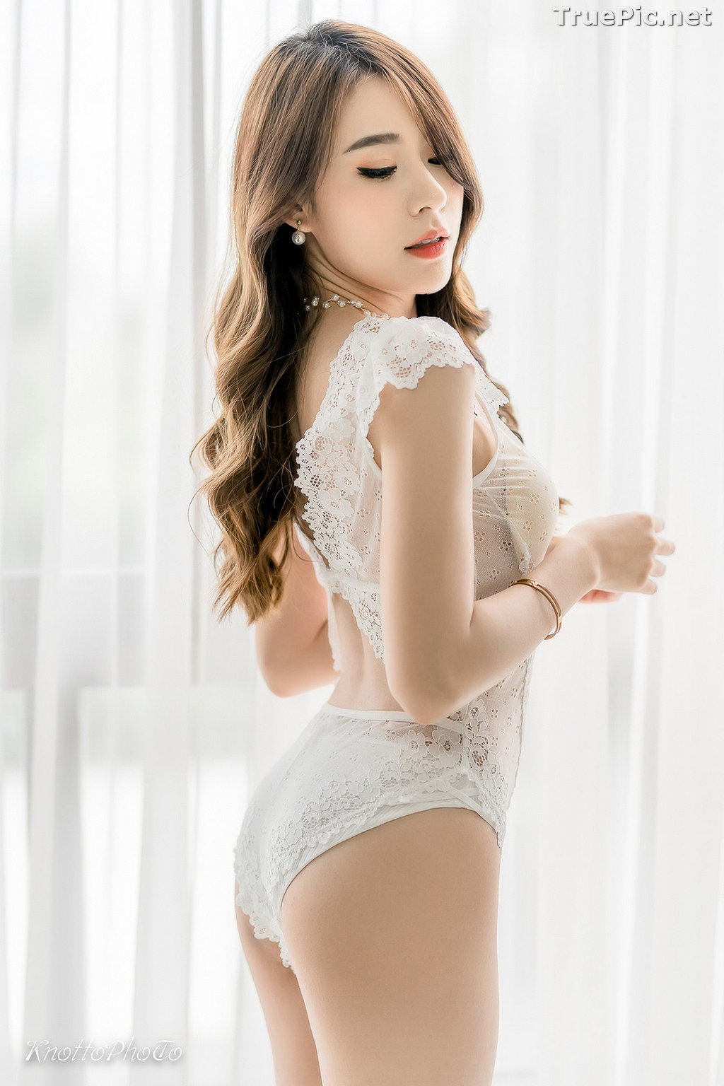 Image Thailand Hot Beauty Model - Thipsuda Jitaree - White Lace Underwear - TruePic.net - Picture-8