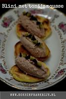 Blini met tonijnmousse