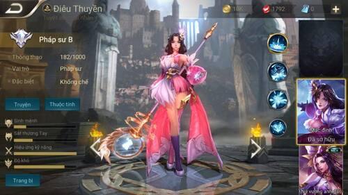 Sử dụng phục trang mới cho Điêu Thuyền khi gia nhập cuộc đấu để gia tăng số lượng vàng với điểm thưởng thu được ở cuối Game