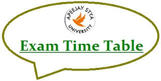 Apeejay Stya University Exam Date Sheet 2021