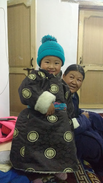 Dawa with his grand mother